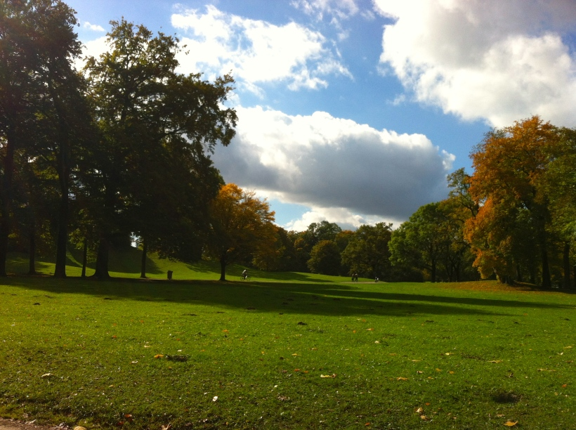 Autumn scenes in the Englischer Garten