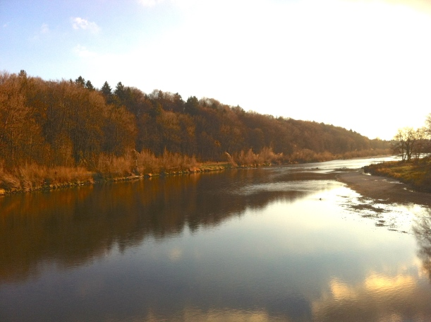 The Isar in winter